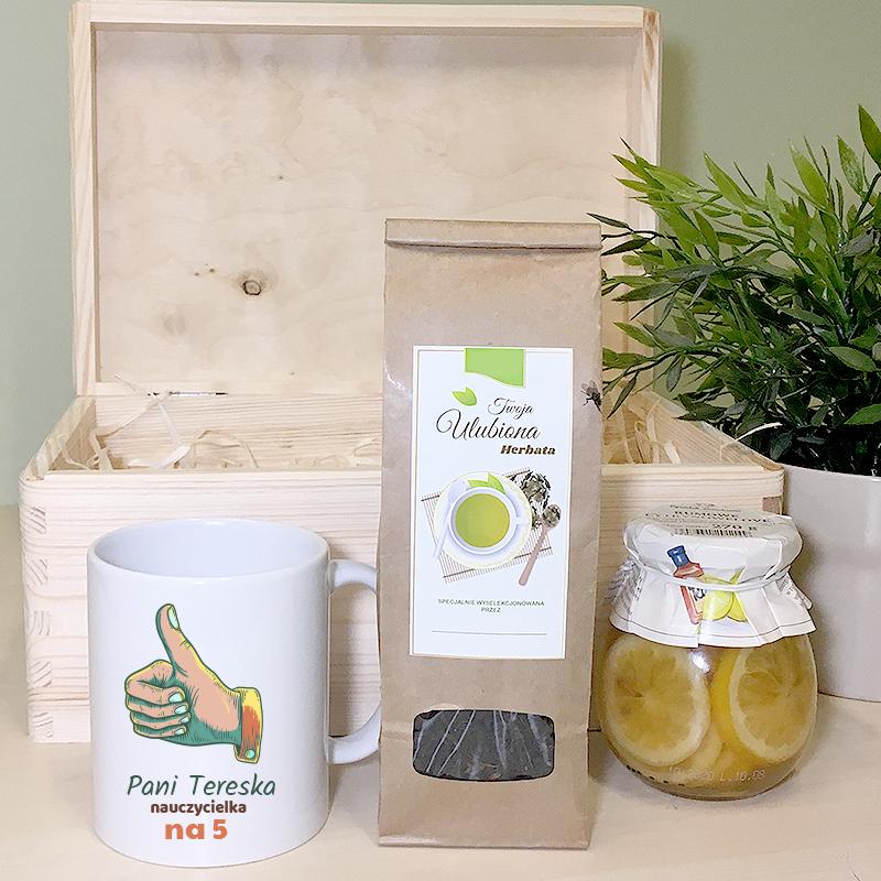 Zestaw do herbaty na prezent dla nauczyciela