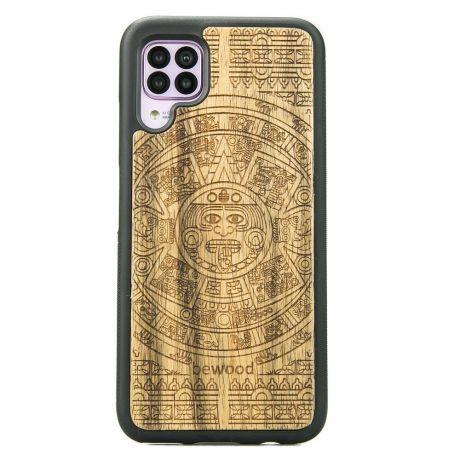 Drewniane Etui Huawei P40 Lite KALENDARZ AZTECKI LIMBA