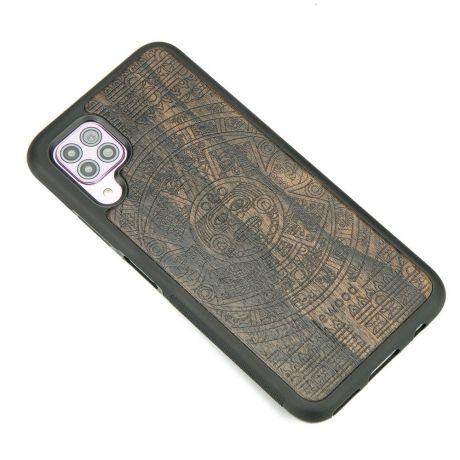 Drewniane Etui Huawei P40 Lite KALENDARZ AZTECKI ZIRICOTTE