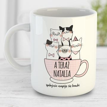 Kubek dla niej z kotami