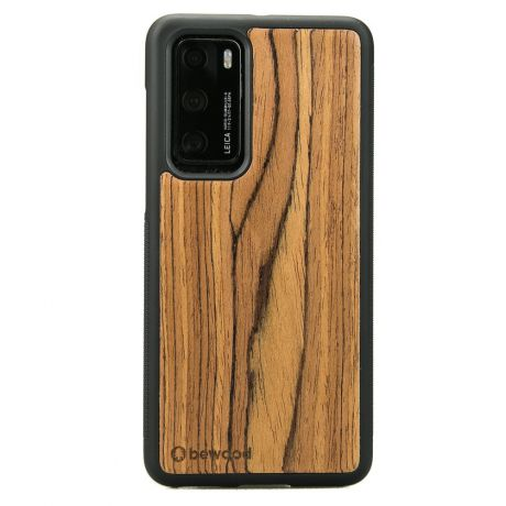 Drewniane Etui Huawei P40 OLIWKA