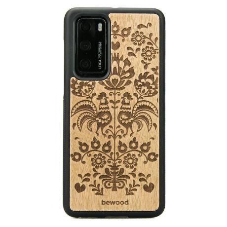 Drewniane Etui Huawei P40 POLSKI FOLK ANIEGRE
