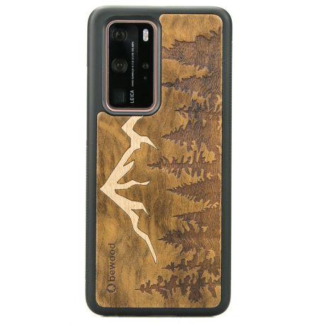 Drewniane Etui Huawei P40 Pro GÓRY IMBUIA