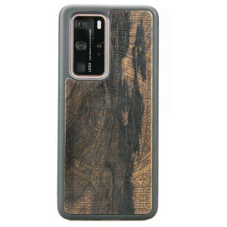 Drewniane Etui Huawei P40 Pro KALENDARZ AZTECKI ZIRICOTTE