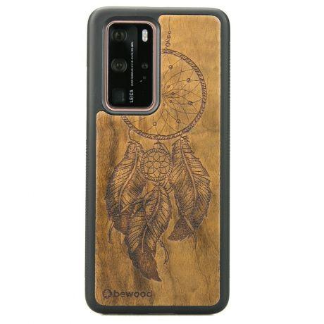 Drewniane Etui Huawei P40 Pro ŁAPACZ SNÓW IMBUIA