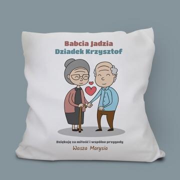 Poduszka dla babci i dziadka z własnym nadrukiem