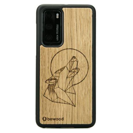 Drewniane Etui Huawei P40 WILK DĄB