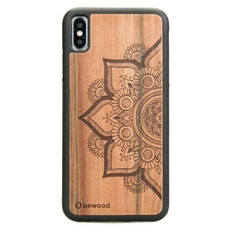 Drewniane Etui iPhone XS Max MANDALA JABŁOŃ