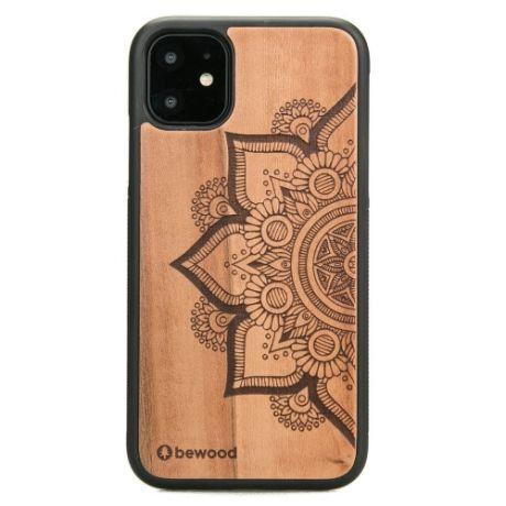 Drewniane Etui iPhone 11 MANDALA JABŁOŃ