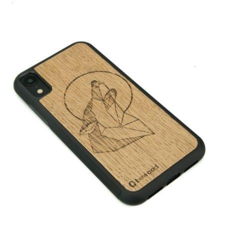 Drewniane Etui iPhone XR WILK DĄB