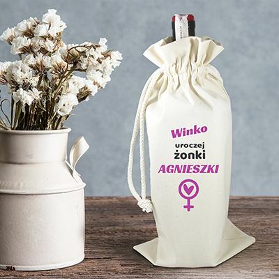 Worek na alkohol dla żony