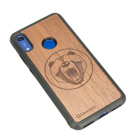 Drewniane Etui Huawei Y6s NIEDŹWIEDŹ MERBAU