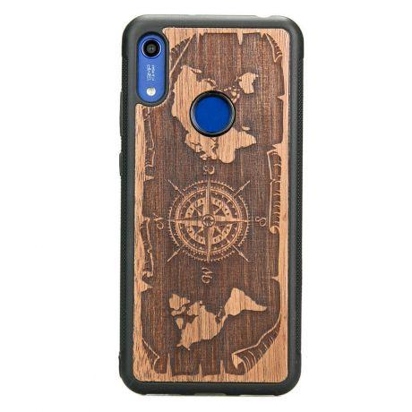 Drewniane Etui Huawei Y6s RÓŻA WIATRÓW MERBAU