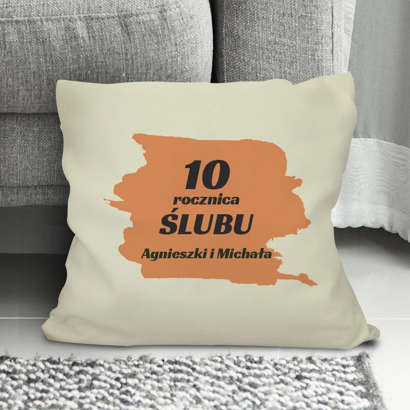 Poduszka na 10 rocznicę ślubu