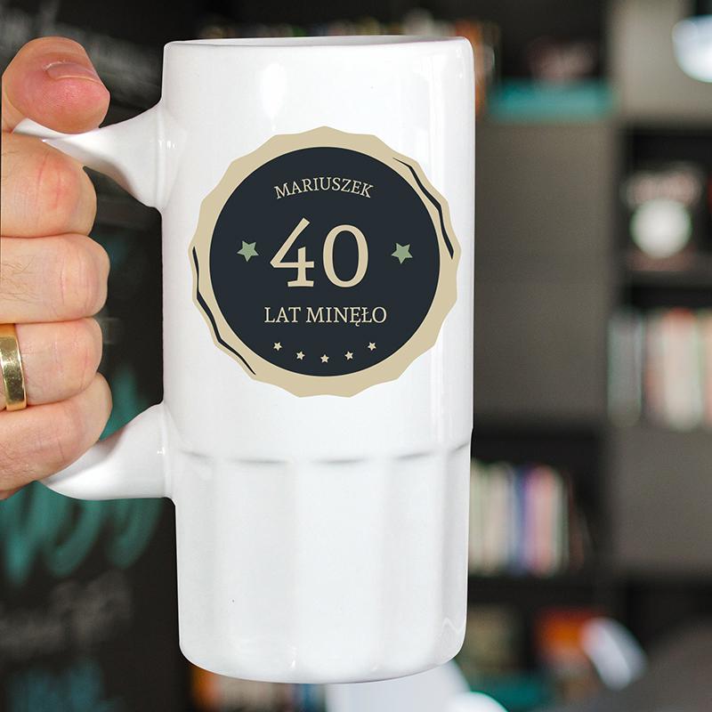 Kufel do piwa na 40 urodziny