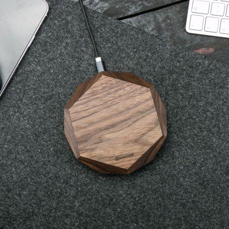 Ładowarka indukcyjna Bewood Geometryczna QI 15W Orzech