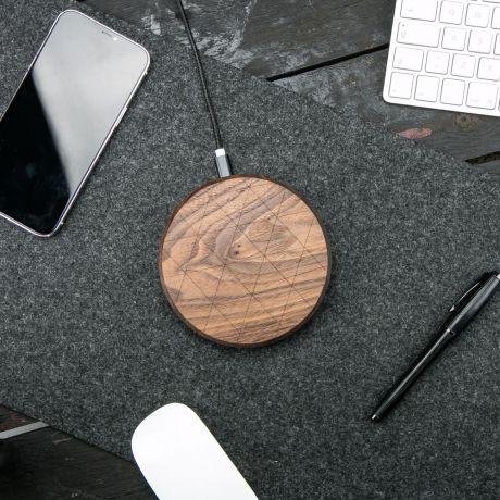 Ładowarka indukcyjna Bewood Slim Circle QI 15W Orzech