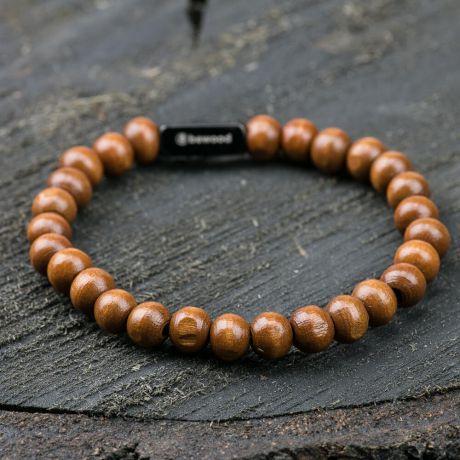 Bransoletka z koralików - Bewood Beads - Beige
