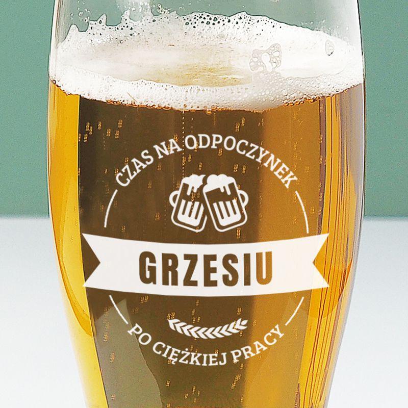 Szklanka do piwa z grawerem