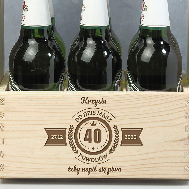 Skrzynka na piwo na 40 urodziny