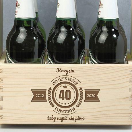 Nosidło na piwo na 40 urodziny