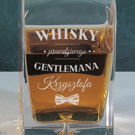 Karafka z grawerem do whisky