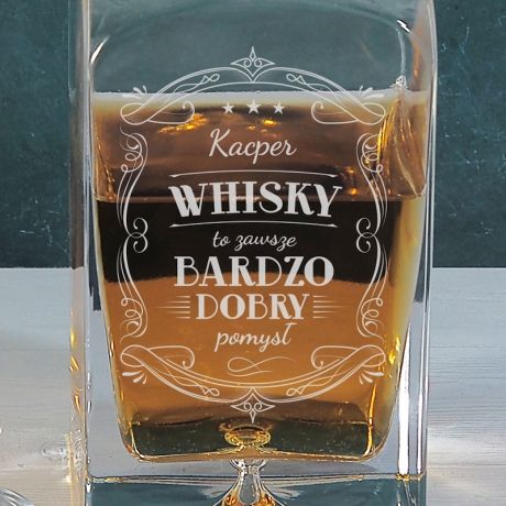 Karafka do whisky grawer