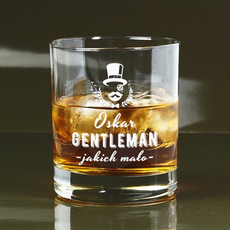 Szklanka do whisky z napisem