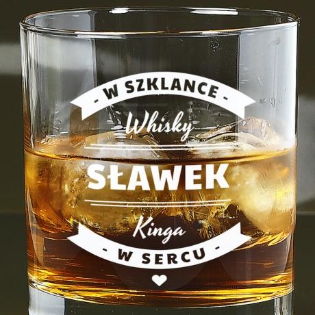 Szklanka do whisky na Walentynki