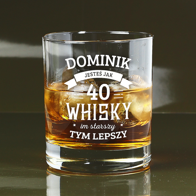 Szklanka do whisky na 40 urodziny