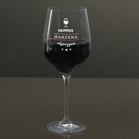 Kieliszek do wina dla mamy