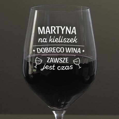 Kieliszek do wina dla przyjaciółki