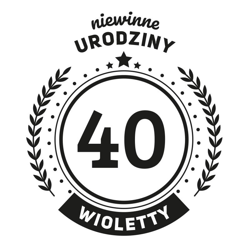 Kieliszek do wina na 40 urodziny