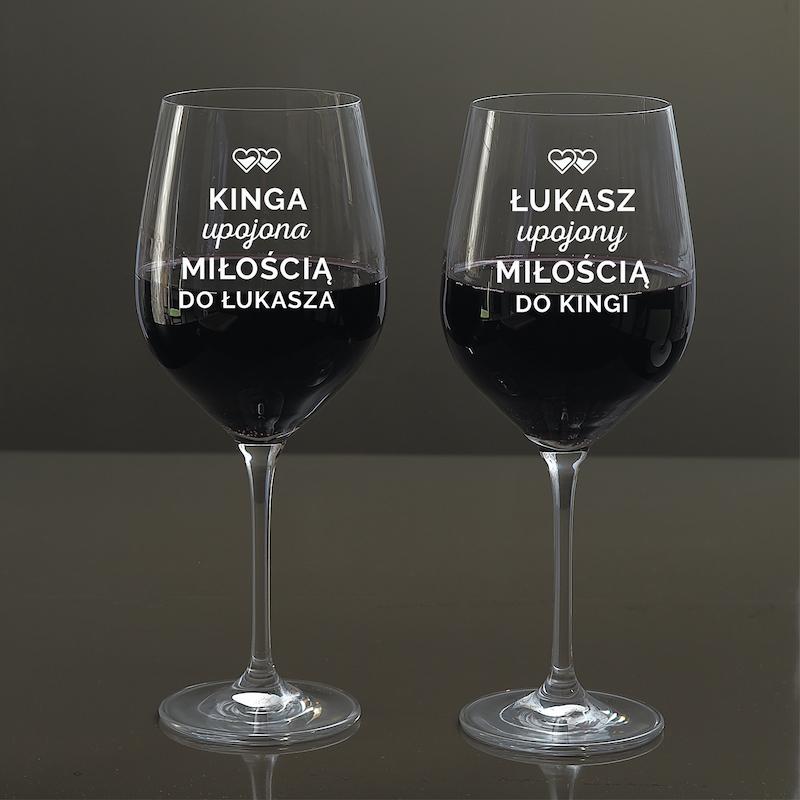 Kieliszki do wina dla par