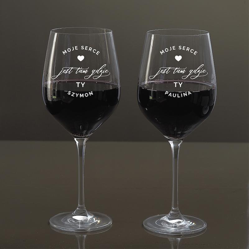 Kieliszki do wina na prezent ślubny