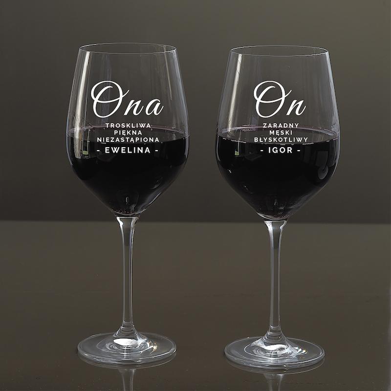 Kieliszki do wina na rocznicę ślubu