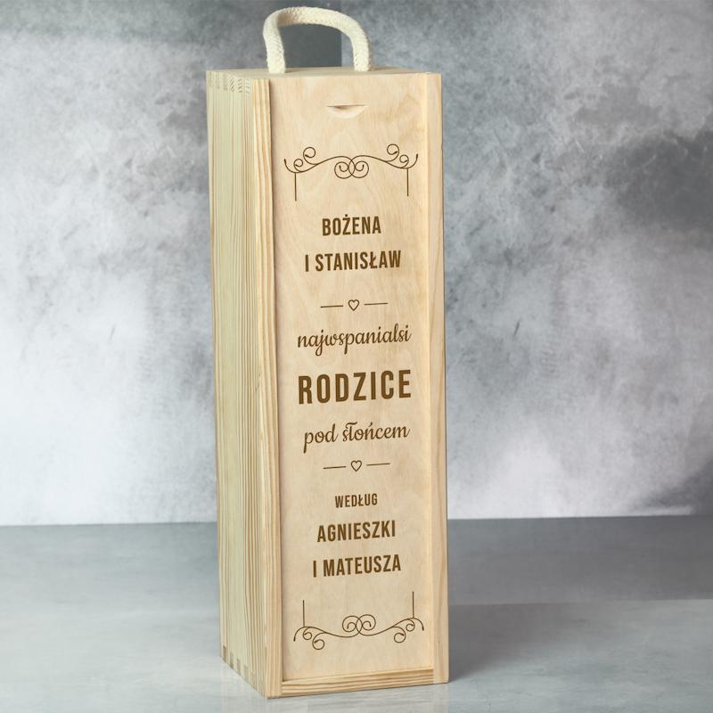 Skrzynka na wino dla rodziców