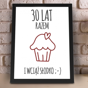 Plakat na 30 rocznicę ślubu