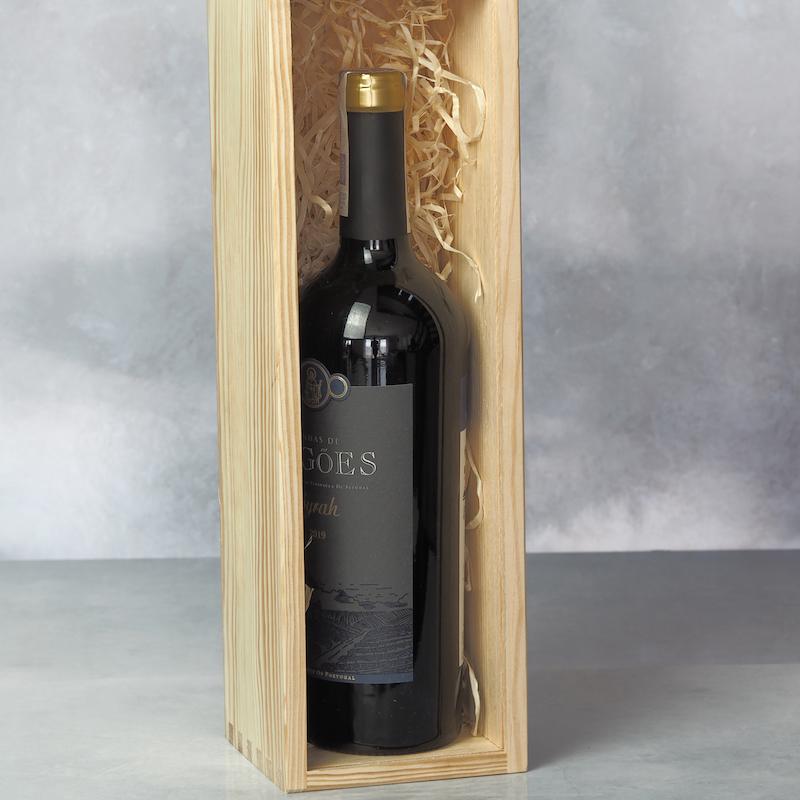 Skrzynka na wino drewniana