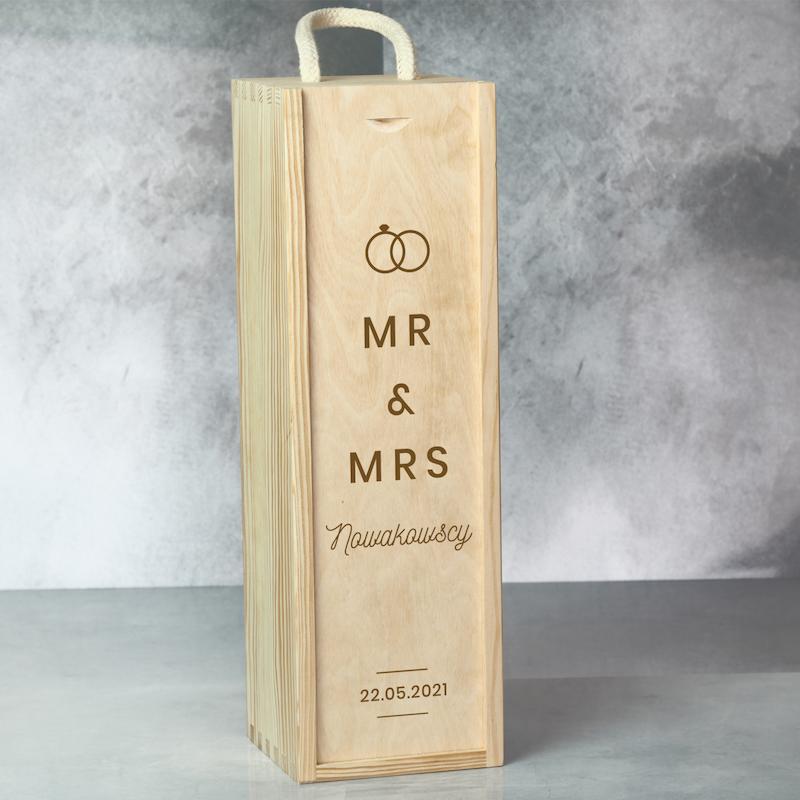 Skrzynka na wino dla nowożeńców