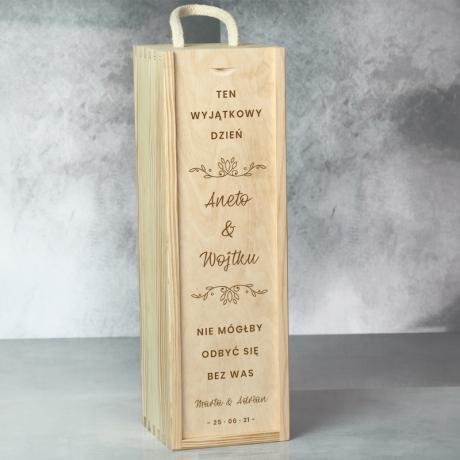 Skrzynka na wino dla świadków