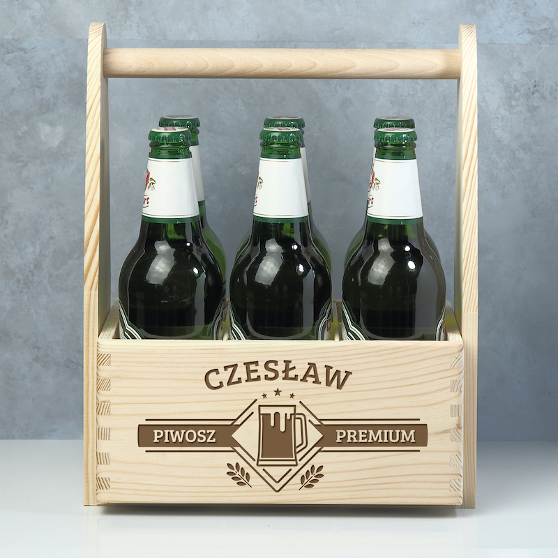 Personalizowane nosidło na piwo