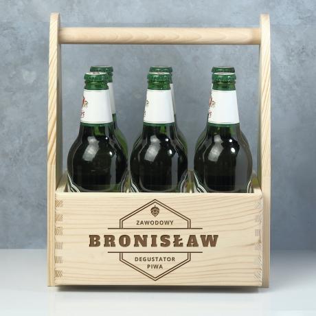 Nosidło na piwo drewniane