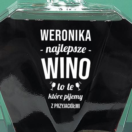 Karafka do wina z dedykacją