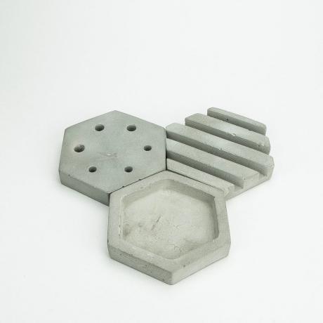 Zestaw Organizerów Betonowych Hexagon 3 szt
