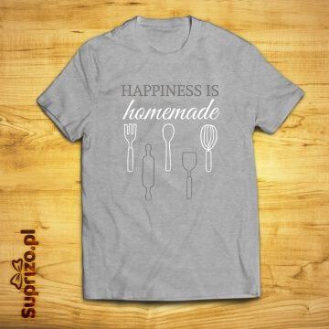 Koszulka z oryginalnym nadrukiem dla wielbicieli domowych smakołyków
