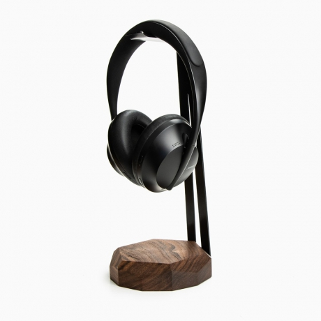 Stojak na słuchawki Geometryczny Orzech