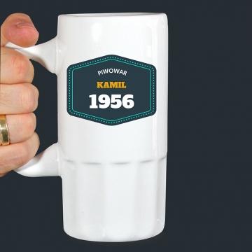 Kufel do piwa z imieniem (personalizowany)