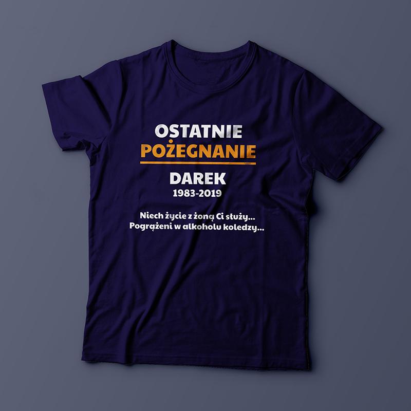 f337072be Koszulka na Wieczór Kawalerski (personalizowana)