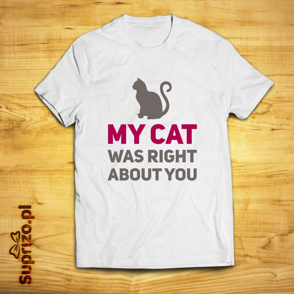 Koszulka z zabawnym napisem dla właścicieli kota